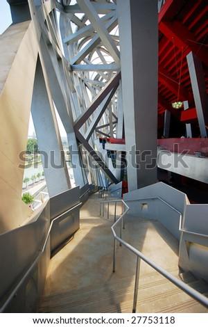 Interior  of Beijing National Olympic Stadium - stock photo