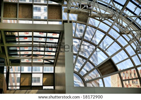 Interior of Building Savaged by Hurricane Ike(Release Information: Editorial Use Only. Use of this image in advertising or for promotional purposes is prohibited.) - stock photo