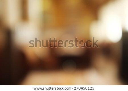 Interior of cafe, blur background - stock photo