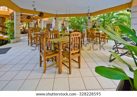 Interior Of Caribbean, Mexican Style Restaurant Traditional