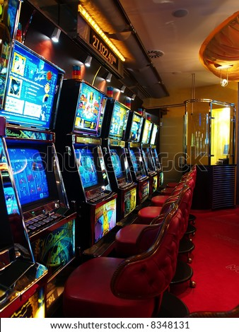interior of casino - stock photo