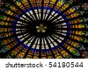 interior of Cathedral Notre Dame, Strasbourg, Alsace, France - stock photo