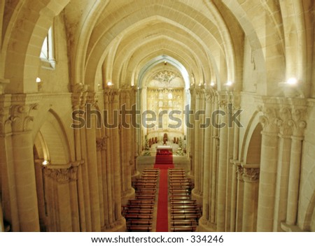 interior of chapel with cathedral in Salamanca, Spain - stock photo