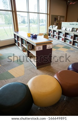 Interior of childrens library - stock photo