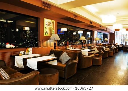 Interior of coffee restaurant - stock photo