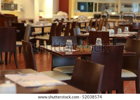 Interior of cosy modern  Restaurant - stock photo