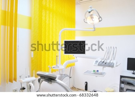 interior of dental cabinet - stock photo
