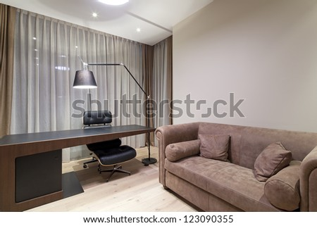 Interior of designer office - stock photo