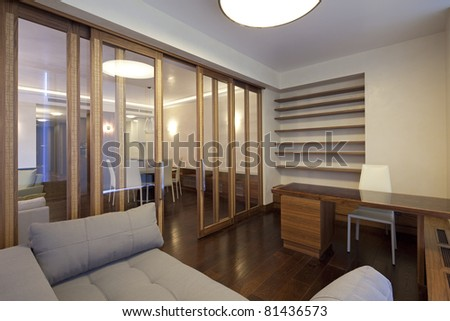 Interior of designer room