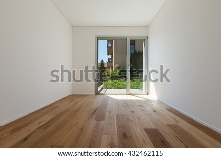 empty apartment inside. Interior of empty apartment  wide room with parquet floor Empty Room Nobody Inside Parquet Floor Stock Photo 621232799
