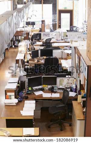 Interior Of Empty Architect's Office - stock photo