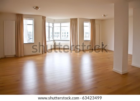 Interior of empty living space - stock photo