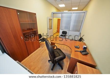 Interior of empty office cabinet - stock photo