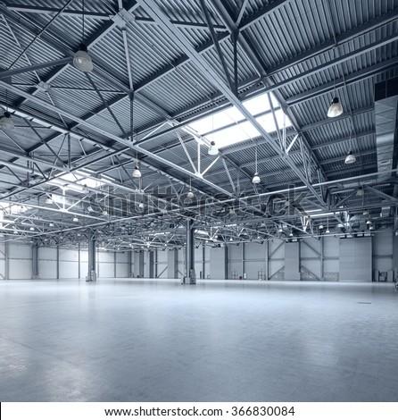 Interior Empty Warehouse Stock Photo Royalty Free