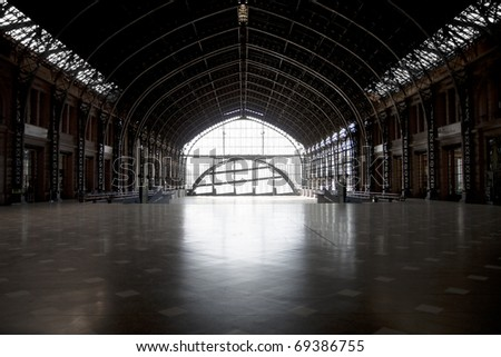 Interior of Estacion central - Santiago, Chile - stock photo