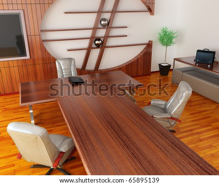 Interior of fine office - stock photo