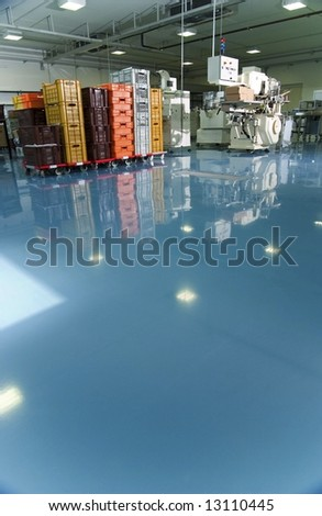 Interior of food factory - stock photo