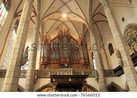 Gothic Revival Interior interior gothic revival church st vitus stock photo 76566013