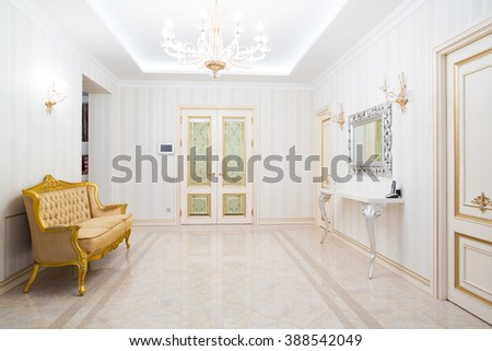 interior of hallway at house - stock photo