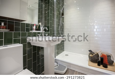 interior of home stylish wc room  - stock photo