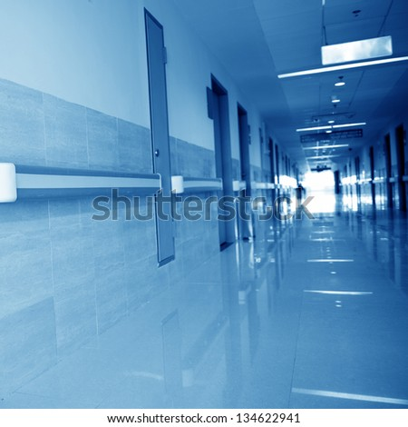 interior of hospital research lab. - stock photo