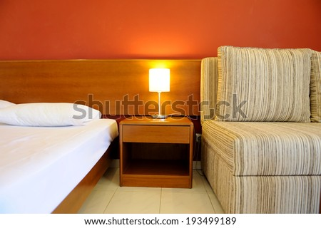 Interior of hotel room - bed room