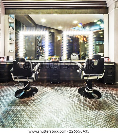 Interior of luxury beauty salon - stock photo