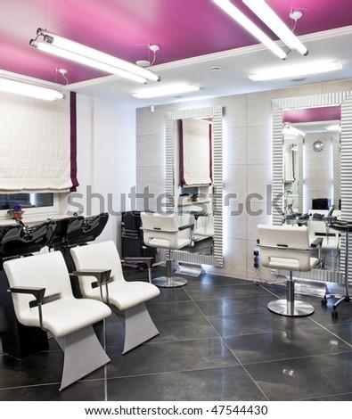 Interior of luxury beauty salon - stock photo