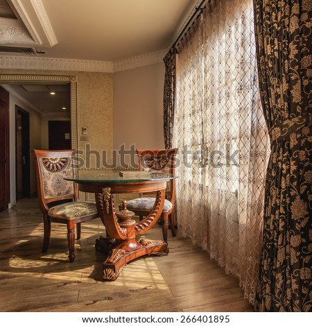 interior of luxury classic palace - stock photo