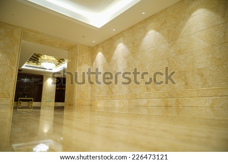 Interior of Luxury lobby - stock photo
