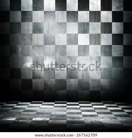 interior of metal grid background - stock photo