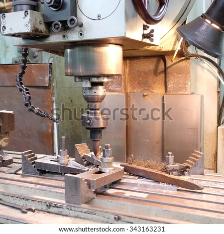 Interior of metalworking workshop