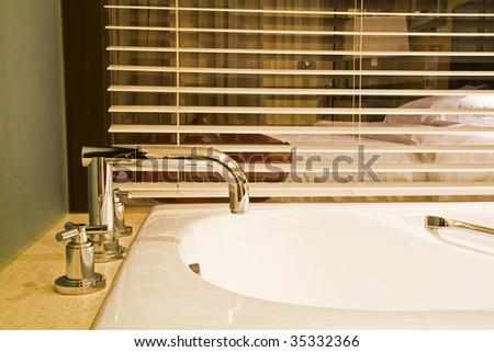 Interior of modern bath-room - stock photo