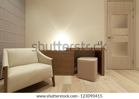Interior of modern bedroom - stock photo