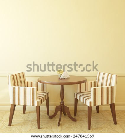 Interior of modern coffee house. 3d render. - stock photo