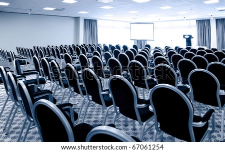 interior of modern conference hall - stock photo