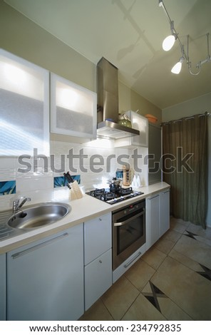 Interior of modern Kitchen in luxury home.  - stock photo