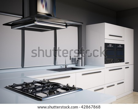 Modern Kitchen Stove kitchen hood stock images, royalty-free images & vectors
