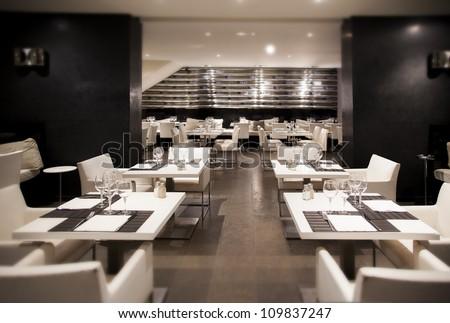 Interior Modern Restaurant Stock Photo (100% Legal Protection ...