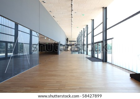 Interior of modern sport arena - stock photo