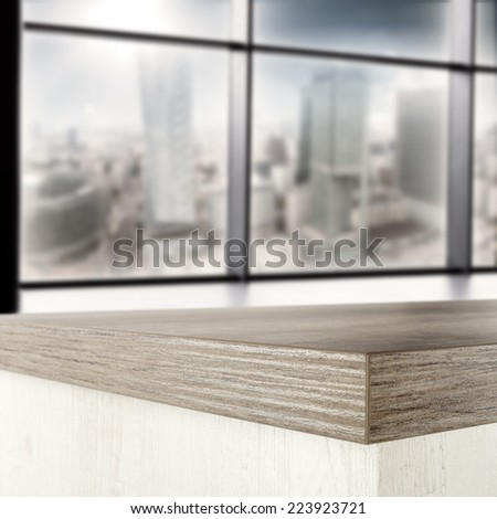 interior of office with window and board  - stock photo