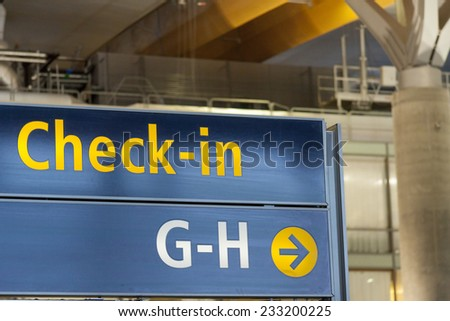 Interior of Oslo Gardermoen International Airport - Norway - stock photo