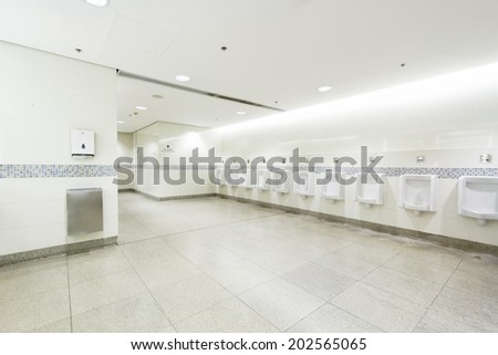 interior of private restroom , toilet - stock photo