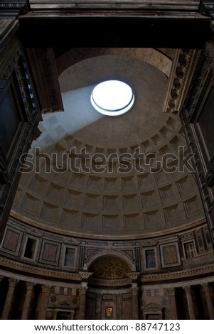 an analysis of the famous and iconic roman building the pantheon The pantheon now contains the tombs of the famous artist raphael and of several italian kings its ecclesiastical interior design contrast with the temple's structural design, but the marble floor - which features a design consisting of a series of geometric patterns - is still the ancient roman original.
