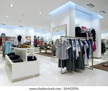 Interior of shopping mall - stock photo
