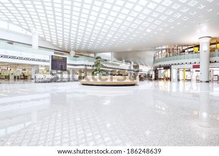 interior of shoppingmall - stock photo