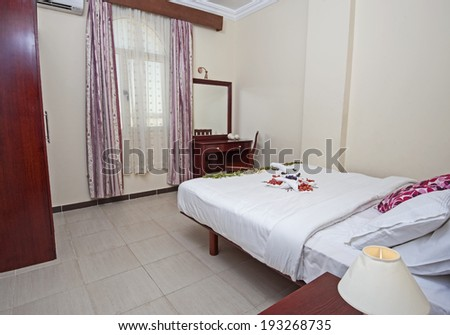 Interior of show home bedroom showing interior design concept