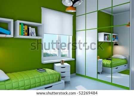 Interior of teenager. - stock photo