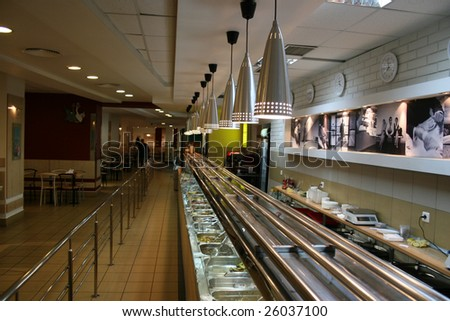 interior of the bistro - stock photo