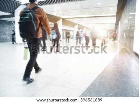 interior of the building in guangzhou china - stock photo